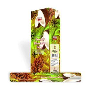 Darshan Weihrauch Kokosnuss Zimt Nelke (6 Packungen)