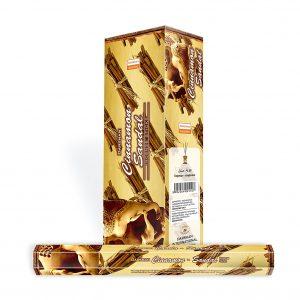 Darshan Raucherstäbchen Sandalholz Zimt (6 Packungen mit 20 Stäbchen)