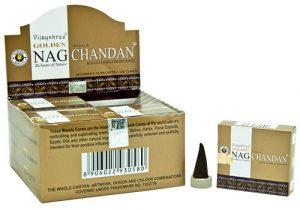 Golden Nag Raucherkegel Chandan (12 Packungen mit 10 Kegel)