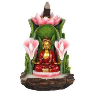Rückfluss Weihrauchbrenner Bronze Buddha