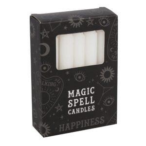 Magischer Zauber Kerzen Glück (Weiß - 12 Stück)