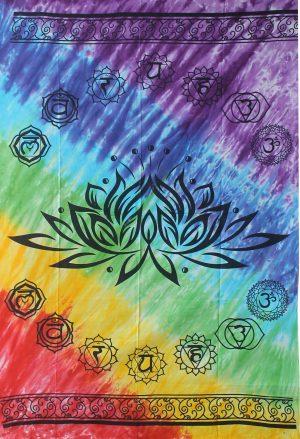 Wandtuch Baumwolle - Chakra's - Lotus