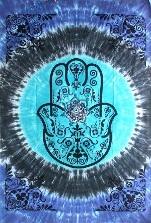 Tagesdecke/ Wandtuch aus Baumwolle - Hand of Fatima