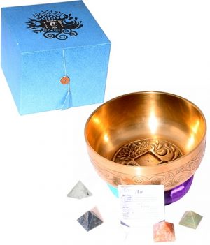 Klangschale 4 Elemente (Steinpyramiden)