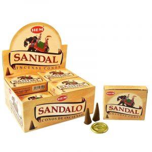 HEM Räucherkegel Sandelholz (12 Packungen mit 10 Kegeln)