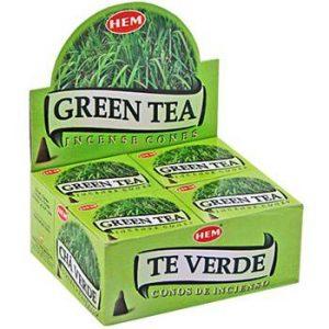 HEM Weihrauchkegel Grüner Tee (12 Packungen)