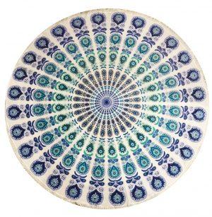 Tagesdecke/ Wandtuch aus Baumwolle - Mandala (rund)