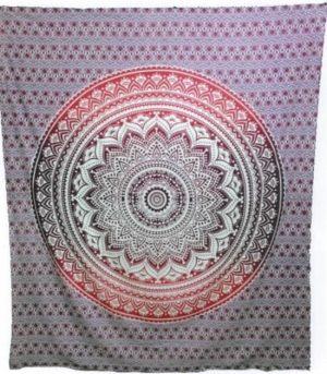 Mandala Wandtuch Quadratisch Rosa (228 x 228 cm)