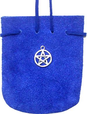 Wildledertasche – Pentagramm (Blau)