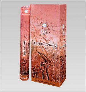 Flute Raucherstäbchen Ägyptischer Moschus (6 Packungen mit 20 Stäbchen)