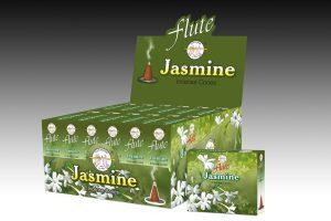Flute Raucherkegel Jasmin (12 Packungen mit 10 Kegel)