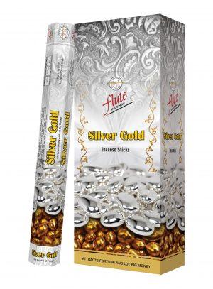 Flute Raucherstäbchen Silber Gold (6 Packungen mit 20 Stäbchen)