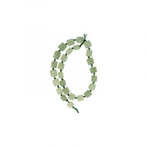 Edelstein Perlen-Strang Jade geknotet