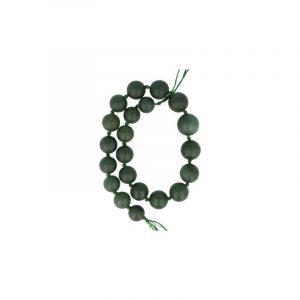 Edelstein Perlen-Strang Jade Kugeln Dunkelgrün