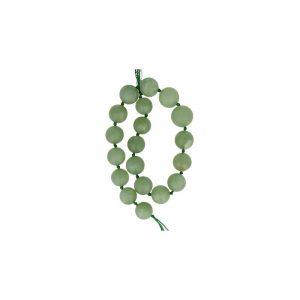 Edelstein Perlen-Strang Jade Kugeln geknotet Hellgrün
