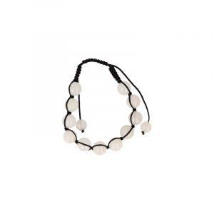 Weiße Jade Shamballa Armband (10 mm)