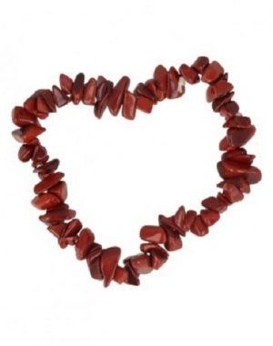 Edelstein Splitter Kinderarmband Jaspis Rot