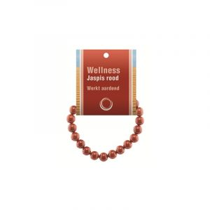 Powerbead Armband Jaspis rot (mit Kärtchen)