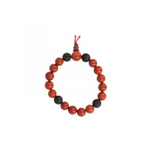 Edelstein-Armband Roter Jaspis Powerbead mit Lavastein