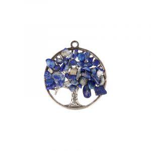 Lapis Lazuli Lebensbaum Anhänger (30 mm)