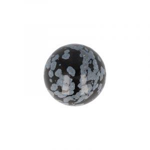 Edelstein Kugel Obsidian Schneeflocke (20 mm)