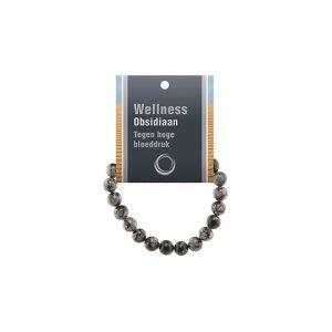 Powerbead Armband Obsidian Schneeflocke (mit Displaykarte)