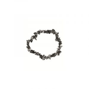 Edelstein Splitterarmband Obsidian Schneeflocke