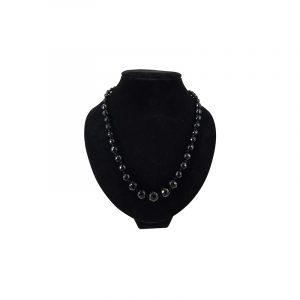 Edelstein Halskette Onyx Facettenschliff