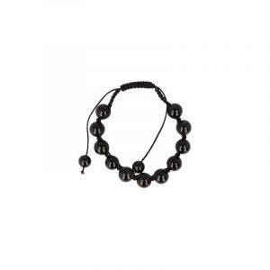 Onyx Shamballa Armband (10 mm)