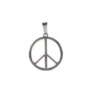 Edelstahl-Anhänger mit Friedenssymbolen