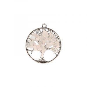 Rosenquarz Lebensbaum Anhänger (30 mm)