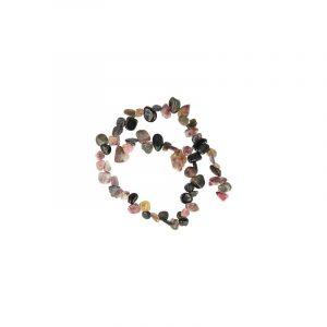 Edelstein Perlen-Strang Turmalin Wassermelonen-Tropfen