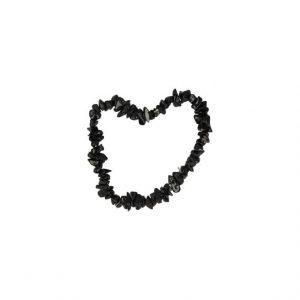 Edelstein Splitter Kinderarmband schwarzem Turmalin