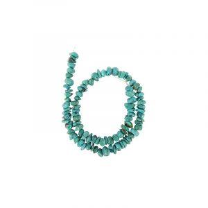 Edelstein Perlen-Strang Türkis gespaltenen Steinen (9 mm)