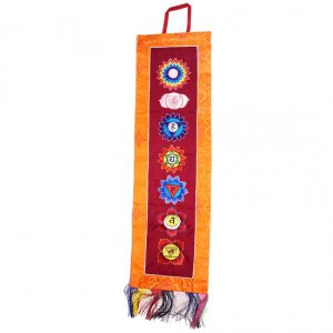 Chakra Wandbehang Stickarbeit mit Brokat