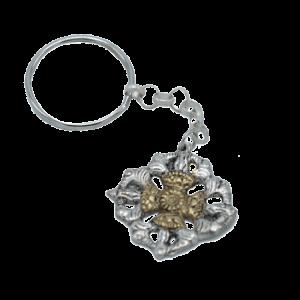 Schlüsselanhänger Double Dorje Metall