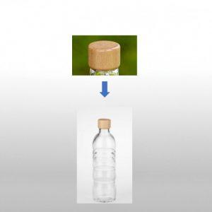 Vitalwasser Holzdeckel für Trinkflasche Lagoena