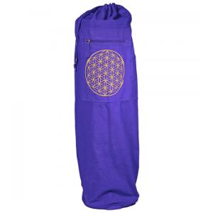 Yogamatten Tasche mit Kordelzug Lila Blume des Lebens