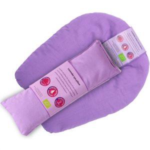 Augen- und Nackenkissen biologischer Lavendel violett