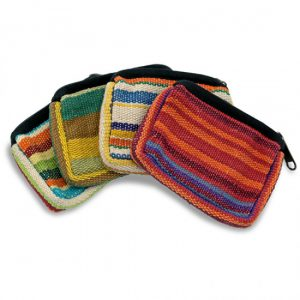 Taschen Baumwolle Sortiment mit Reißverschluß Assorti (verschiedene Farben)