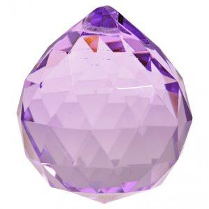 Regenbogen-Kristalle Kugel Violett AAA Qualität (5 cm)