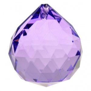 Regenbogen-Kristalle Kugel violett AAA Qualität (4 cm)