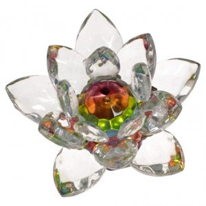 Feng Shui Kristall - Lotusblume (geläsert, klein)