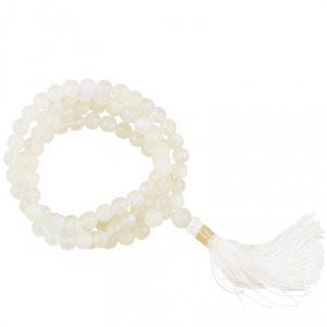 Mala Mondstein AA Qualität 108 Perlen mit Tasche