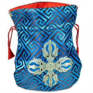 Brokattäschchen blau doppelter Dorje