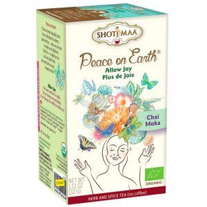 Shoti Maa Peace on Earth Joy Tee (Biologisch, Vegan und Koffeinfrei)