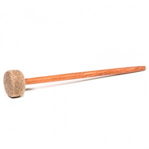 Filzschlägel Medium Stiel aus Holz (28 x 3 cm)