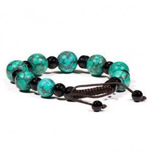 Armband Türkis & schwarzer Achat