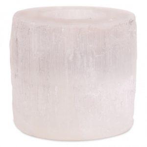 Teelichthalter Selenite Zylinder