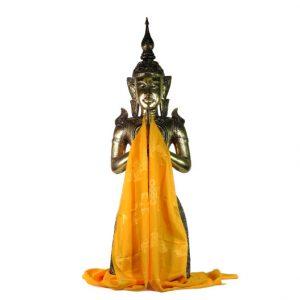 Tibetischer Luxus Katha Schal - Gelb - XL